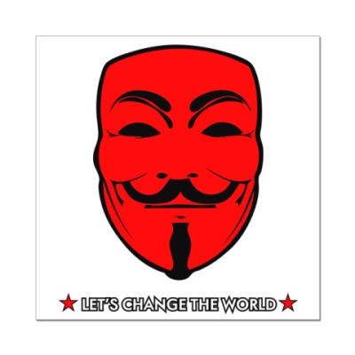 "Наклейка (стикер) наклейка "" Анонимус"""