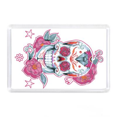 Магнит Flower skull