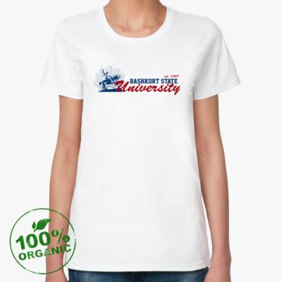 Женская футболка из органик-хлопка БашГУ