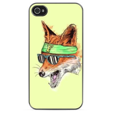 Чехол для iPhone Лиса в очках