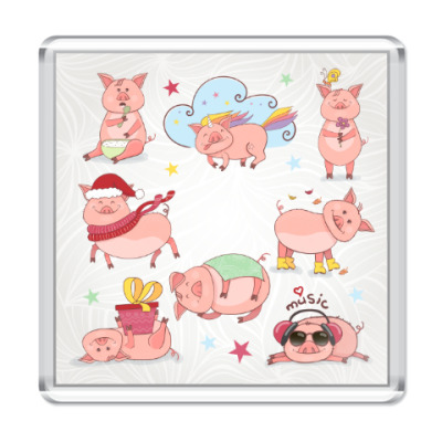 Магнит 2019 год Свиньи