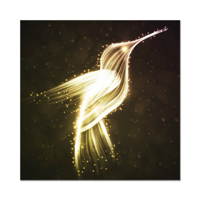 Наклейка (стикер) Звездная птичка киви