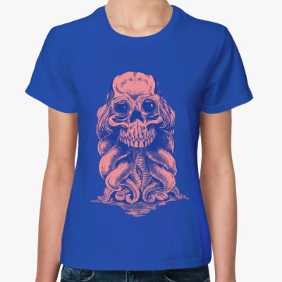 Женская футболка Череп со щупальцами