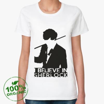 Женская футболка из органик-хлопка SHERLOCK