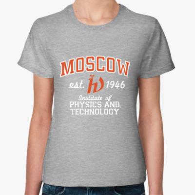 Женская футболка  футболка Физтеха