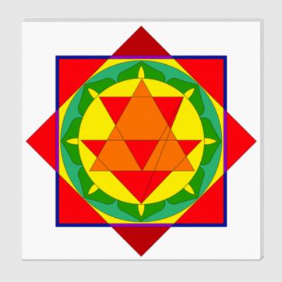 Холст  Бала-трипура-янтра