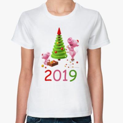 Классическая футболка Свинья 2019