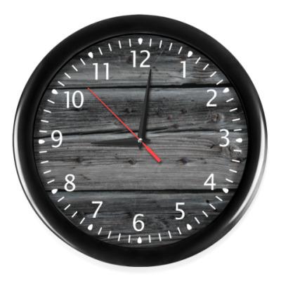 Часы Темное дерево