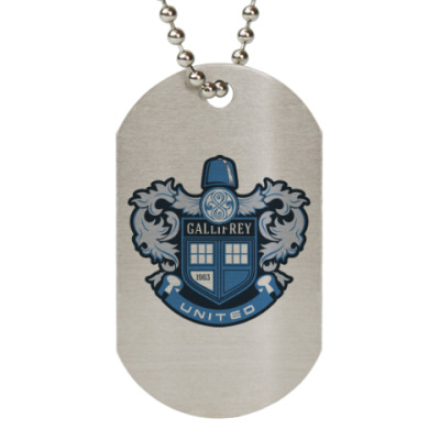 Жетон dog-tag Gallifrey United