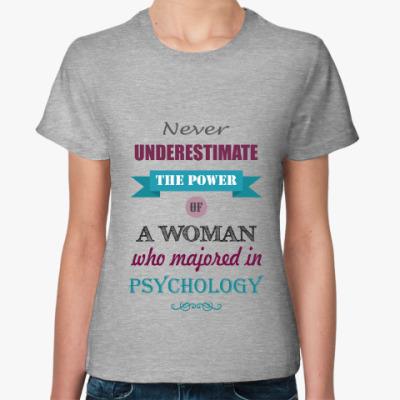 Женская футболка Psychology