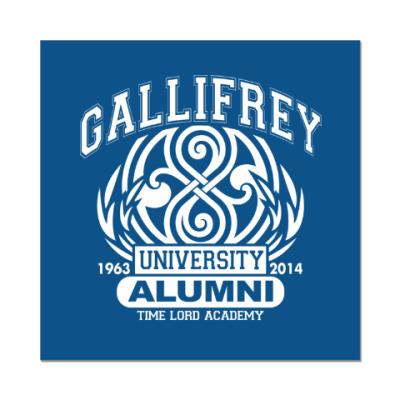 Наклейка (стикер) Gallifrey University Alumni