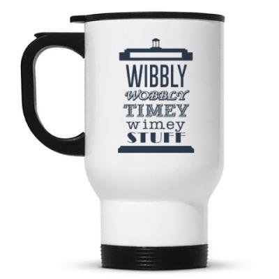 Кружка-термос Wibbly Wobbly Timey Wimey Stuf