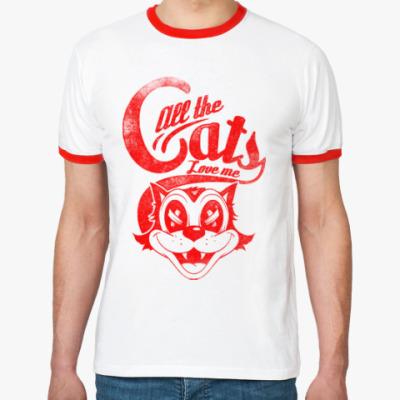 Футболка Ringer-T Все коты любят Меня