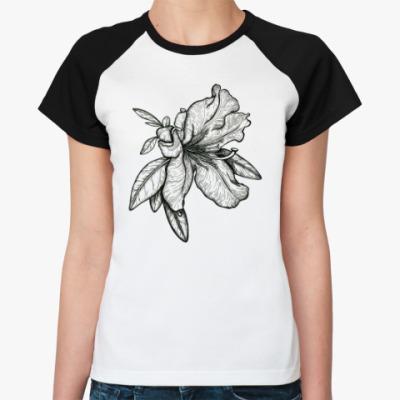 Женская футболка реглан Рододендрон