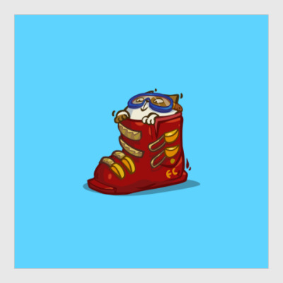Постер Лыжекот — Пятничный Котик №41