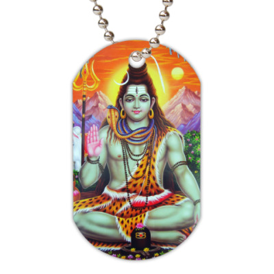Жетон dog-tag Lord Shiva