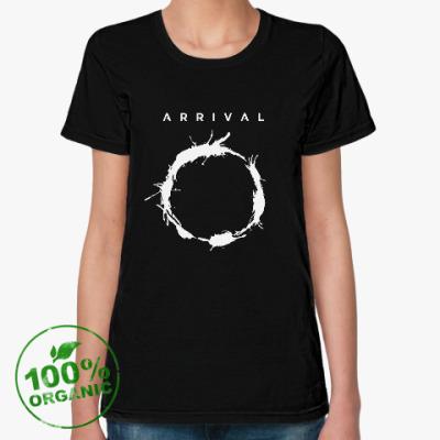 Женская футболка из органик-хлопка Прибытие. Язык гептаподов (Heptapod language)
