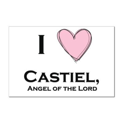 Наклейка (стикер) I love Castiel
