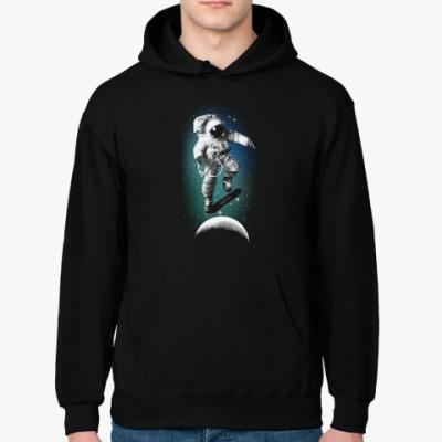 Толстовка худи Astronaut on skateboard