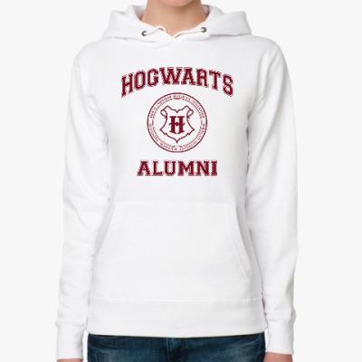 Женская толстовка худи Hogwarts Alumni