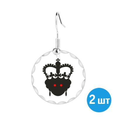 Серьги  Королева Елизавета II