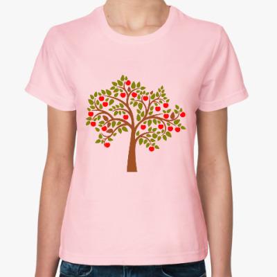 Женская футболка Яблоня