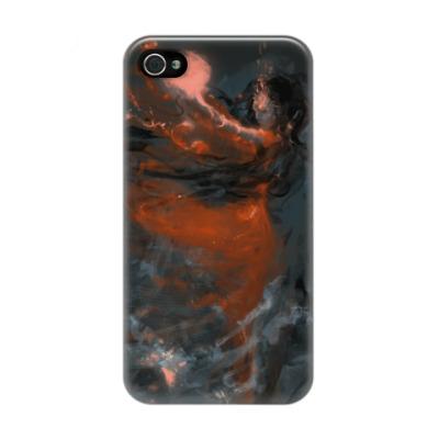 Чехол для iPhone 4/4s девушка