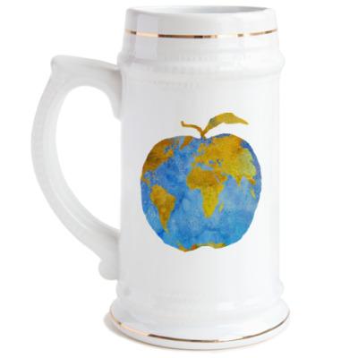Пивная кружка Apple Earth