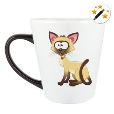 Кружка-хамелеон кошки