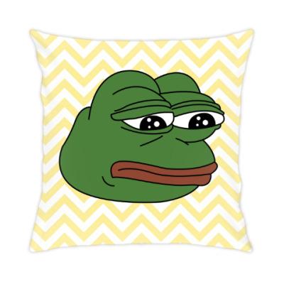 Подушка Грустная лягушка