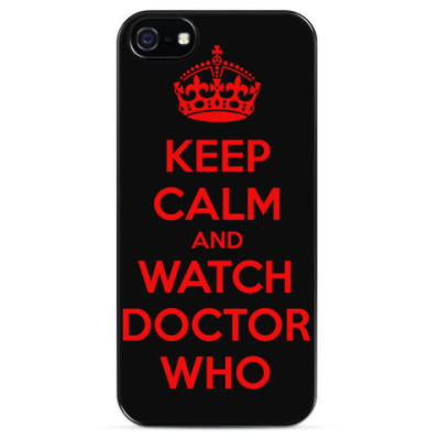 Чехол для iPhone KEEP CALM and WATCH DOCTOR WHO