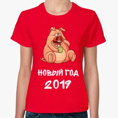 Женская футболка Год Свиньи 2019