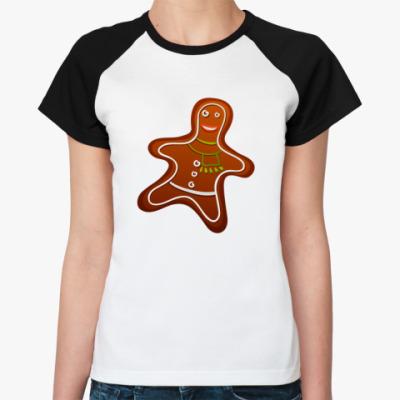 Женская футболка реглан Печенка