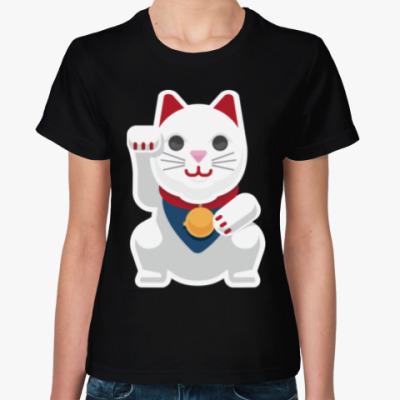 Женская футболка Lucky Cat