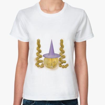 Классическая футболка Тыква в шляпе