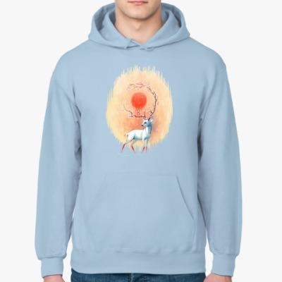 Толстовка худи Дух весны белый олень
