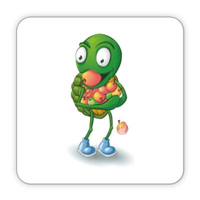 Костер (подставка под кружку) Добрый Черепашонок с яблоками