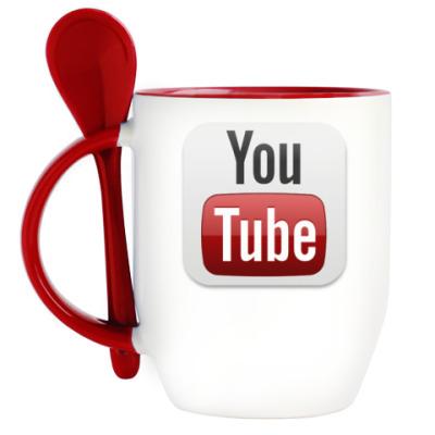 Кружка с ложкой YouTube