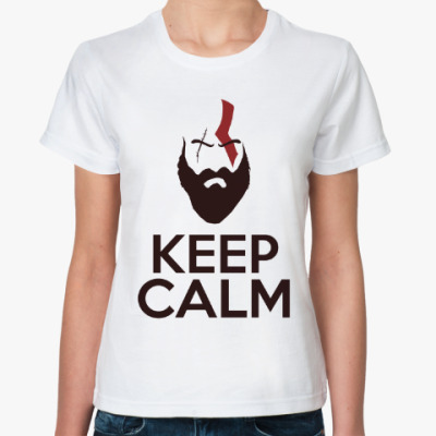 Классическая футболка Кратос Keep Calm | Kratos God