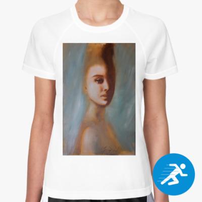 Женская спортивная футболка Кружева