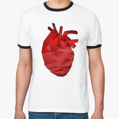 Футболка Ringer-T Сердце 3D