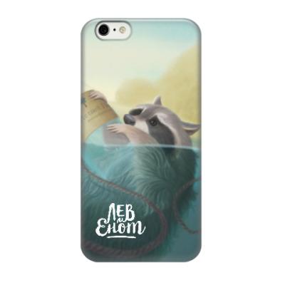 Чехол для iPhone 6/6s Енот в воде