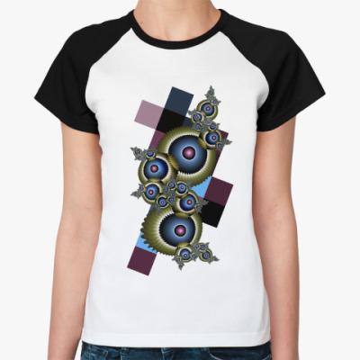 Женская футболка реглан Глаза