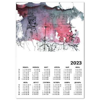 Календарь Улицы Парижа