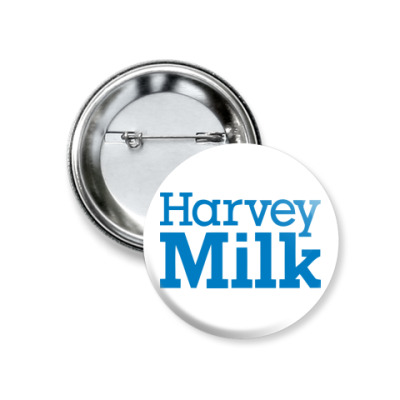 Значок 37мм  Значок Harvey Milk