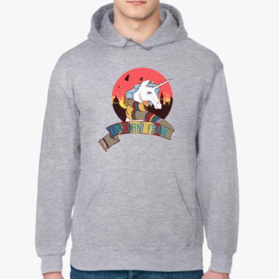 Толстовка худи Рождественский Единорог в стиле Доктора Кто