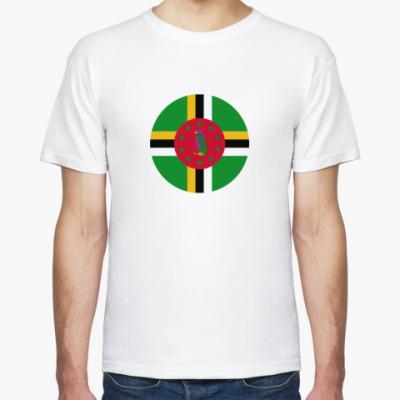 Футболка Dominica, Доминика Флаг