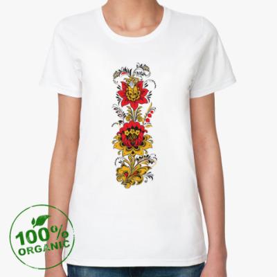 Женская футболка из органик-хлопка Под хохлому