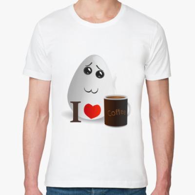 Футболка из органик-хлопка Милое яичко любит кофе
