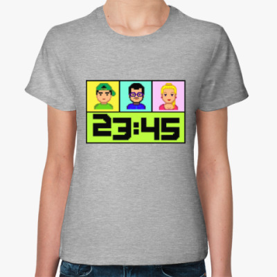 Женская футболка 23:45 8bit